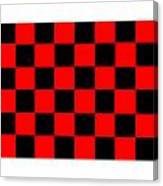 Red And Black Checkered Flag Canvas Print