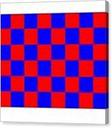 Red And Blue Checkered Flag Canvas Print