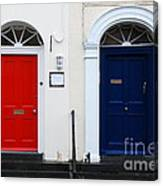 Red And Blue Doors Canvas Print