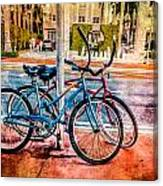 Red And Blue Rides Canvas Print
