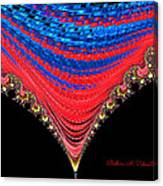 Red And Blue Shawl  Canvas Print