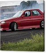Red And Drift Hard Canvas Print