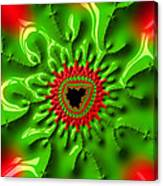 Red And Green Abstract Fractal Art Canvas Print