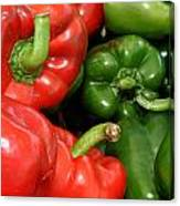 Red And Green Peppers I Phone Case Canvas Print