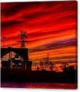 Red And Orange Sky Canvas Print