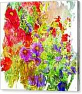 Red And Purple Calibrachoa - Digital Paint II Canvas Print