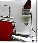 Red And White 1955 Chevy Canvas Print