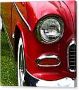 Red And White 50's Chevy Canvas Print