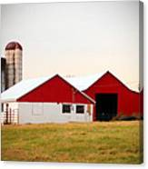Red And White Barn Canvas Print