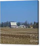Red And White Barns Canvas Print