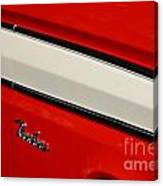 Red And White Ranchero Canvas Print