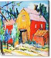 Red And Yellow Barn Canvas Print