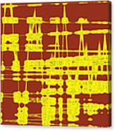 Red And Yellow Wave No 3 Canvas Print