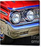 Red Antique Car Canvas Print