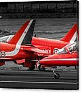 Red Arrows Threesome Take-off Canvas Print