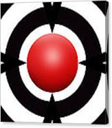 Red Ball 6 Panoramic Canvas Print