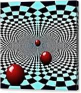 Red Balls Triptych Canvas Print
