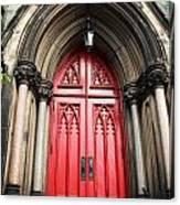 Red Baltimore Door Canvas Print