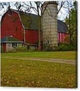 Red Barn And Silo#2 Canvas Print