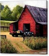 Red Barn In Leiper's Fork Tennessee Canvas Print