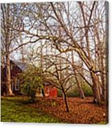 Red Barn In The Smokies Canvas Print