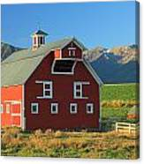 Dn5939-red Barn In The Wallowas Canvas Print
