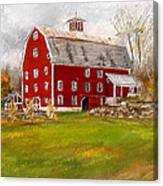 Red Barn In Woodstock Vermont- Red Barn Art Canvas Print