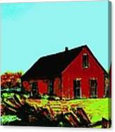 Red Barn   Number 5 Canvas Print