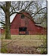 Red Barn Series Picture A Canvas Print