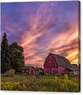 Red Barn Sunset 2 Canvas Print