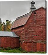 Red Barn With Fall Colors Canvas Print