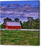 Red Barns Canvas Print
