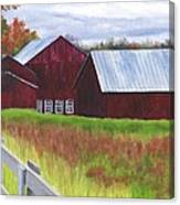 Red Barns At Freehold Canvas Print