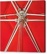 Red Beach Umbrella Canvas Print