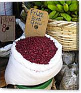 Red Beans At Nicaragua Market Canvas Print