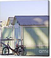 Red Bicycle At Mondello Beach Canvas Print