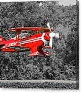 Red Biplane Canvas Print