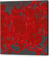 Red Black White Expressions Scramble  Black Red Canvas Print
