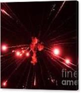 Red Blast And Smoke Canvas Print