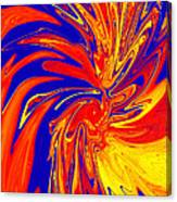 Red Blue Orange Red Yellow Swirl Canvas Print