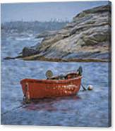 Red Boat In Peggy's Cove Canvas Print