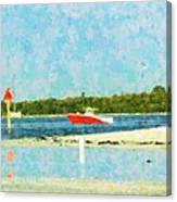 Red Boat Outing Canvas Print
