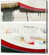 Red Boat At The Dock Canvas Print