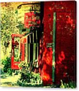 Red Brick Hotel Photograph Canvas Print