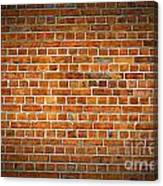 Red Brick Wall Texture With Vignette Canvas Print