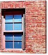 Red Brick Window Canvas Print