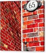 Red Bricks Canvas Print