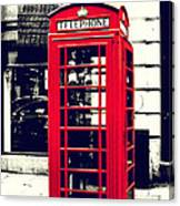 Red British Telephone Booth Canvas Print