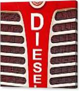 Red Bumper On Vehicle Labeled Diesel Canvas Print