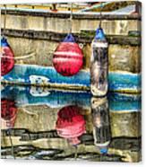 Red Buoy Reflections Of Alaska Canvas Print